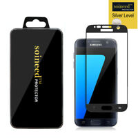 SOINEED Samsung Galaxy S7 FULL COVER Tempered Glass Screen Protector BLACK