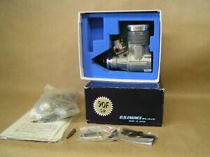 """NEW"" O.S. MAX 90F SR engine, 7D carb, Muffler, paperwork, decals, tools, box"