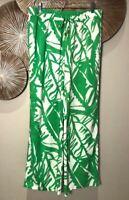 Lilly Pullitzer Women's Wide Leg Swim Cover / Casual Pant, Green / White, Medium