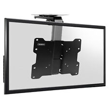 "TV Folding Ceiling Wall Mount Bracket Tilt Swivel Flip Down 17 - 37"" Loft Roof"