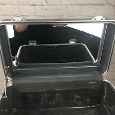 """ZERO Halliburton Cosmetic Train Case Silver Aluminum with Mirror 16"""" x 9"""" x 8"""""""