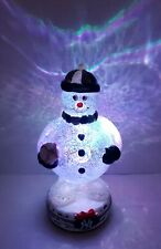 "NY Yankees Baseball Team Snowman 9"" Tall, LIGHTS UP forever collectibles RARE"