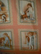 Quilt, Sew, Fabric  2/3 YD Bessie Pease Kids Blocks/Squares Panel