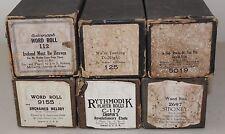 Lot of 6 Vintage Piano Rolls Rythmodik QRS Supertone #S95