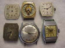 Lot of 10 Vintage antique ART DECO WALTHAM ELGIN + other mens watch watches NR
