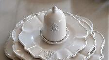 Eierbecher mit Deckel, Geschirrserie Madame, creme-beige,Landhaus, Vintage,