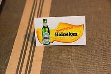 Vintage Heineken Imported Beer Table Tent Sign Placard Advertisement Bar