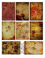 8 Vintage Floral Hang Tags Scrapbooking Paper Crafts (317)