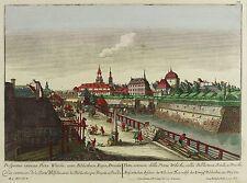 DRESDEN - Wilsdruffer Tor - Probst nach Canaletto - kolor. Kupferstich 1770
