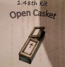 Dollhouse Miniature Open Casket / Coffin Kit -- 1:48 / Quarter Scale / O Scale