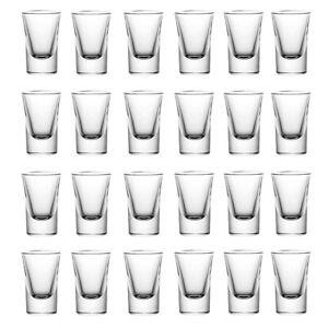 24er Set Schnapsgläser 2cl 4cl 20ml 40ml Shotgläser Pinnchen Shots Tequila Glas