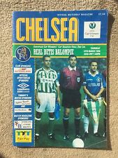 Chelsea v Real Betis - European Cup Winners Cup Quarter Final, 2nd Leg  1997/98