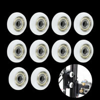 10 pcs n Plastic Nylo Embedded Roller Groove Ball Bearings 5*23*7mm Guide Pulley