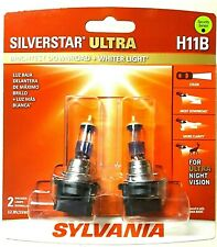 SYLVANIA SilverStar Ultra H11B Halogen Bulbs Dual Pack of 2, NEW, SEALED L@@K !!