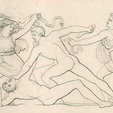 L' Age de fer Mythologie Poésie Hésiode John Flaxman gravure 19e