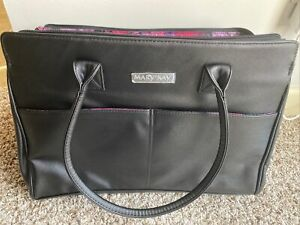 Mary Kay BAG LEATHERSTARTER NEW-Black /INSIDE BEAUTIFUL COLOR/FREE SHIPPING!!