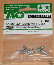 Tamiya 84175/2090009 4x11.5mm Step Screw (5 Pcs.) (WT-01/WR-02/TA01/TT02B), NIP