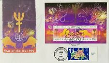 HNLP Hideaki Nakano 3120 Chinese New Year of the Ox Australia Both Stamps