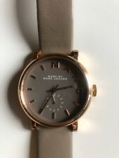 Women's Marc by Marc Jacobs MBM1266 Taupe Rose Gold Watch 35mm *NEW BATTERY*