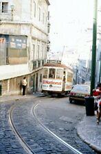 Original Dia Slide Straßenbahn Tram Lisboa Lisbon Lissabon #711 Portugal 1970s 4