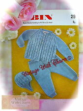 Vintage Knitting Patten Baby's Coat, Cap & Pull-Ons 3 Sizes Super Stitch-work