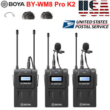 BOYA BY-WM8 Pro-K2 UHF Wireless Microphone Audio Recorder for Canon Camcorder