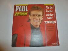 "PAUL SEVERS - Als de Koude Winter Weer - 1988 Dutch 7"" Juke Box vinyl single"
