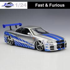 Fast & Furious JADA 1/24 Diecast Car Model 2002 Brian's Nissan Skyline GT-R(R34)