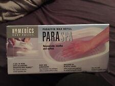 HOMEDICS PARASPA PARAFFIN 2 lbs. WAX REFILL & LINERS New In Box Nib Spa