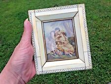 Antique Miniature French Painting-High Quality-Framed Lovers in Nature-Beautiful