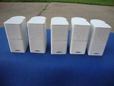 5x Bose Acoustimass/ Lifestyle Jewel Double Cube Speakers w/ Adapter - White