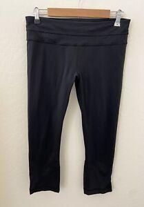Lululemon Inspire Tight Leggings Sz 10 Black Pocket 7/8 Crop