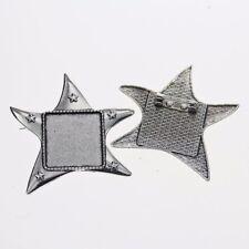 2pcs Tibetan silver starfish  squared 25x25mm cabochon settings brooch XA071
