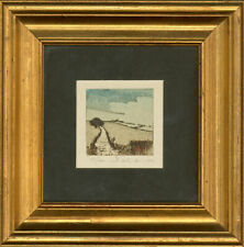 Framed 20th Century Etching - Summer Field