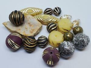 Mix of Vintage Acrylic Chunky Beads Pairs for Unique DIY Jewelry Earring Making