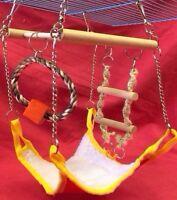 Sm Animal Activity Toy Climb Rope Ladder Hammock Hamster Rat Mouse Gerbil 21cm