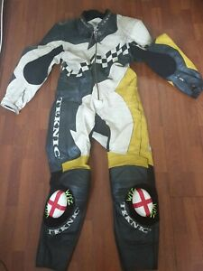 Teknic Full Leather Armoured Motorcycle Motorbike Suit