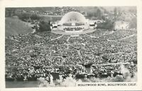 HOLLYWOOD CA – Hollywood Bowl Real Photo Postcard rppc