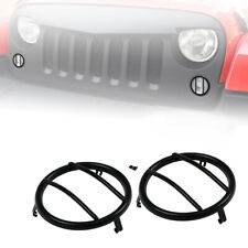 Xprite Black Steel Mesh Turn Signal Guard Cover for 2007 - 2018 Jeep Wrangler JK