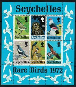 1972 Seychelles Rare Birds Miniature Sheet SG MS314 Perfect U/M (RW692)