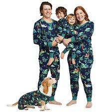 Семья для взрослых ребенок динозавр печать пижамы пижамы комплект с собакой подходящего набора