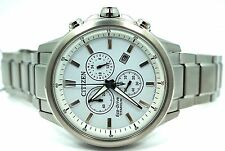 Citizen Eco Drive Super Titanium Chronograph Date 42mm Watch AT2340-81A $708