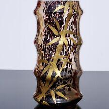 Ernest Baptiste Leveille Art Nouveau Gilt Bamboo Vase