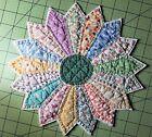 Vintage+Cutter+Quilt+Piece+%7EDarling+Little+Candle+Mat%7E+Pretty+Colors+and+Prints%21
