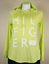 Tommy Hilfiger Sport Hoodie Key Lime Logo Spellout Sweatshirt Womens Size XL