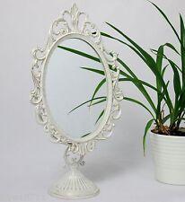 Standspiegel Deko-Spiegel Weiss Schminkspiegel Kosmetikspiegel Antik 32 cm