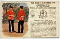 (Gk286-384) G & P, History & Traditions, #86 Duke of Cambridges Own c1910 G-VG
