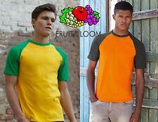 STOCK 30 pezzi FRUIT OF THE LOOM T-shirt BASEBALL bicolore TAGLIE COLORI SCELTA
