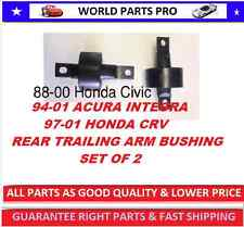 REAR TRAILING ARM BUSHING 88-00 HONDA CIVIC(FITS 94-01 ACURA INTEGRA)set of 2