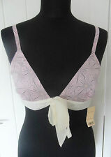 MISS SELFRIDGE Pink Printed Ribbon Detail Soft Bra in Size Small or UK 6-8 *BNWT